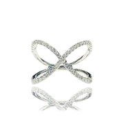 """X"" Diamond Ring (14K)"