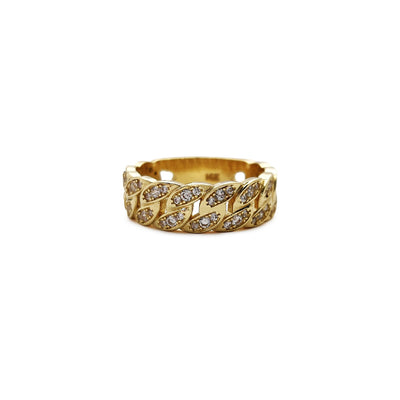 Iced-Out Cuban Ring (14K) Lucky Diamond New York