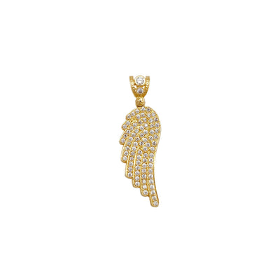 Iced-Out Wing Pendant (14K) Lucky Diamond New York