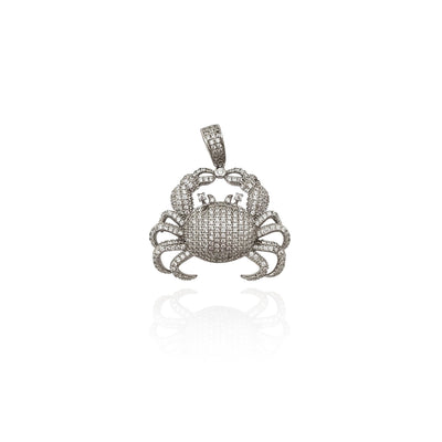 Iced-Out Crab CZ Pendant (Silver) New York Lucky Diamond
