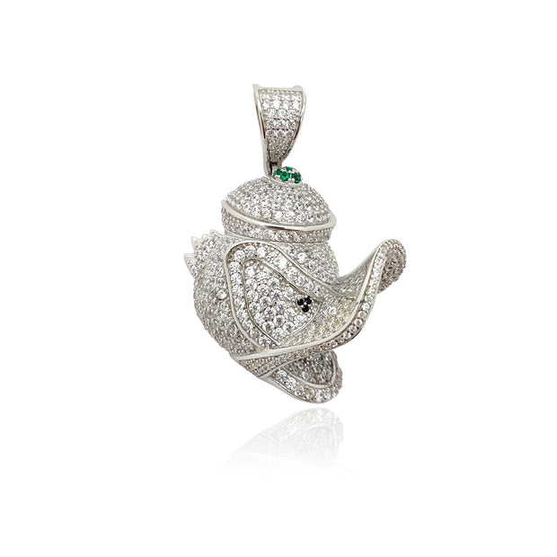 Iced-Out Donald Duck Pendant (Silver) Lucky Diamond New York