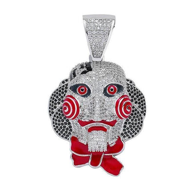 Iced-Out Jigsaw Head Pendant (Silver) Lucky Diamond New York