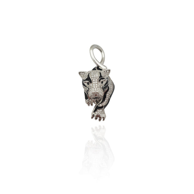 Iced-Out Panther CZ Pendant (Silver) New York Lucky Diamond