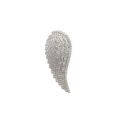 Iced-Out Wing Pendant (Silver) Lucky Diamond New York