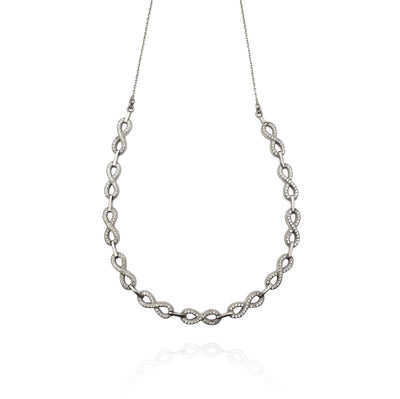 Joint Infinity CZ Necklace (Silver) New York Lucky Diamond