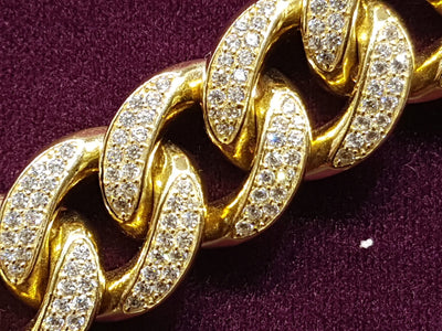 Icy Miami Cuban Bracelet 14K - Lucky Diamond