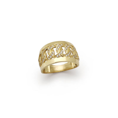 Miami Cuban CZ Ring (14K) Lucky Diamond New York