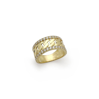 Miami Cuban CZ Ring (14K) Miami Cuban CZ Ring (14K)