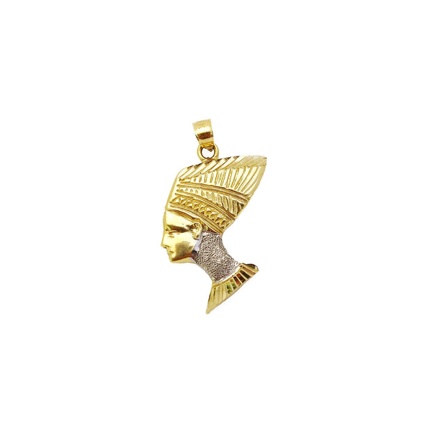 Nefertiti Two-Tone Pendant (14K).