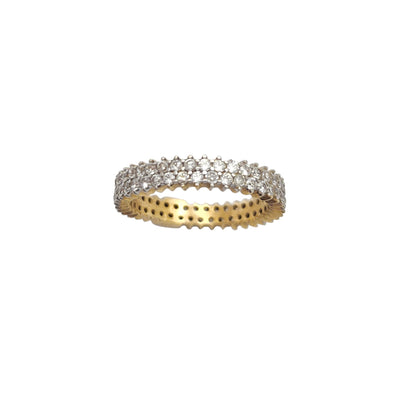 Pave Eternity Ring (14K) Lucky Diamond New York