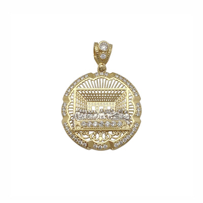 Pave Last Supper Medallion Pendant (10K) Lucky Diamond New York