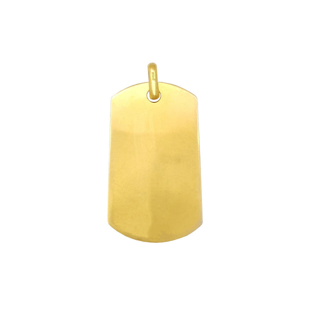 Plain Dog Tag Yellow Pendant (Silver) Lucky Diamond New York