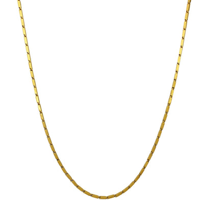 Rectangle Bullet Chain (24K) Lucky Diamond New York