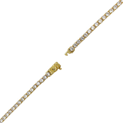 Round Tennis Zirconia Chain (14K) Lucky Diamond New York