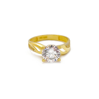 Semi-Pave Enganing Ring (10K) Lucky Diamond New York