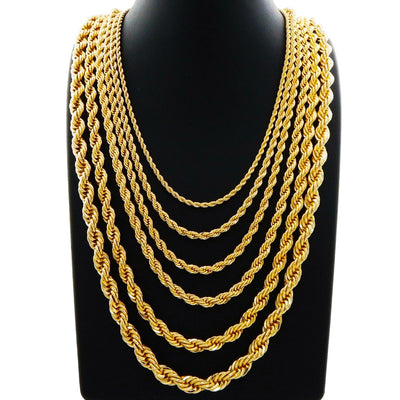 Solid Rope Chain (14K) Lucky Diamond New York
