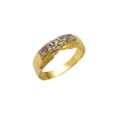 Stone-Set CZ Ring (14K) Lucky Diamond New York