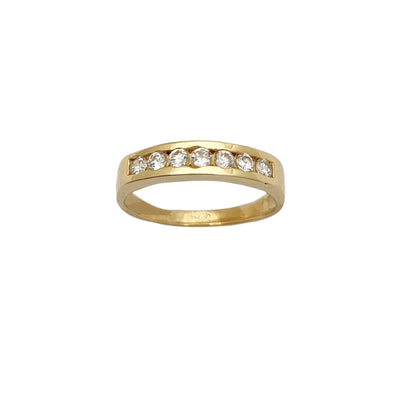 Stone-Set Wedding Band (14K) Lucky Diamond New York