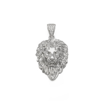 Lion Head Pendant (Silver) front - Lucky Diamond New York