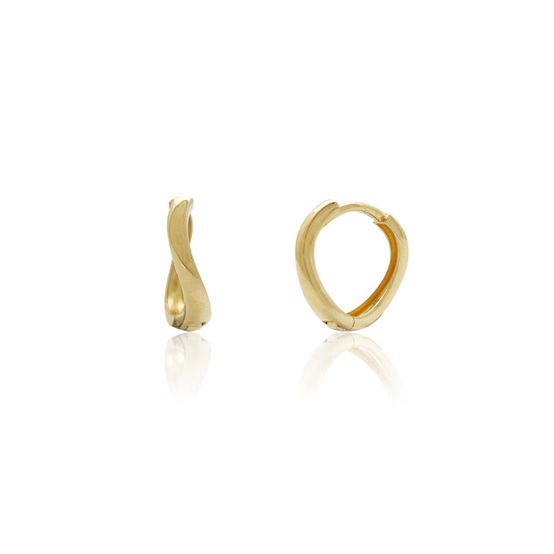 Wave Huggies Earrings (14K) Lucky Diamond New York