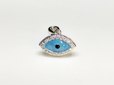 Evil Eye Mini Pendant Silver - Lucky Diamond