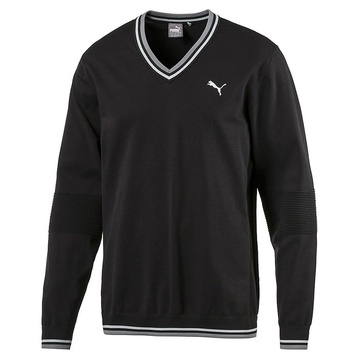 PUMA EVOKNIT V NECK GOLF SWEATER