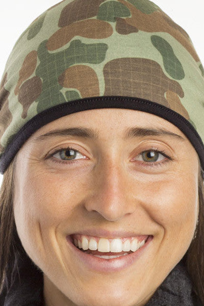 100% Aust Merino/Poly Reversible Pocket Beanie - Auscam