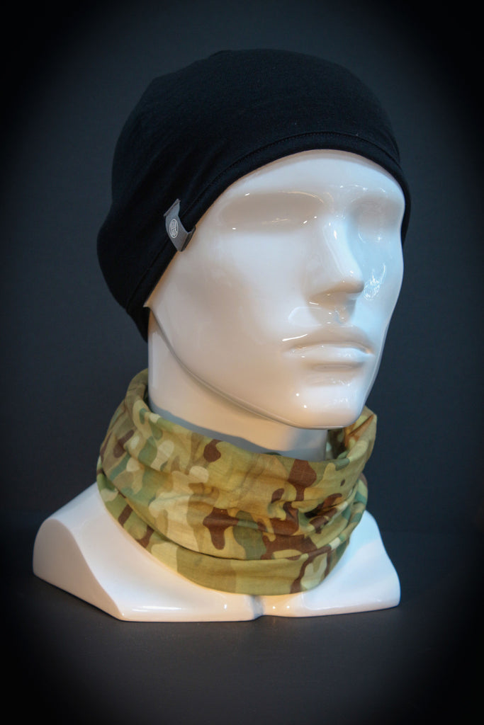 100% Aust Merino/Poly Reversible Pocket Beanie - Multicam