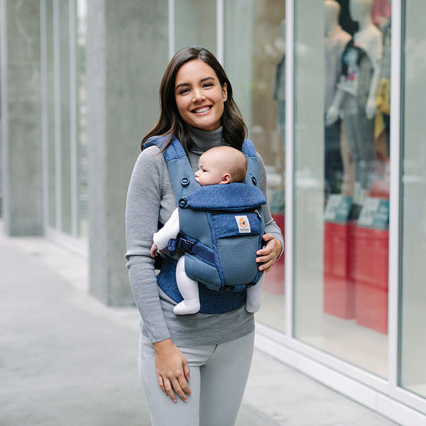 Adapt Baby Carrier: Cool Air Mesh - Blue Blooms