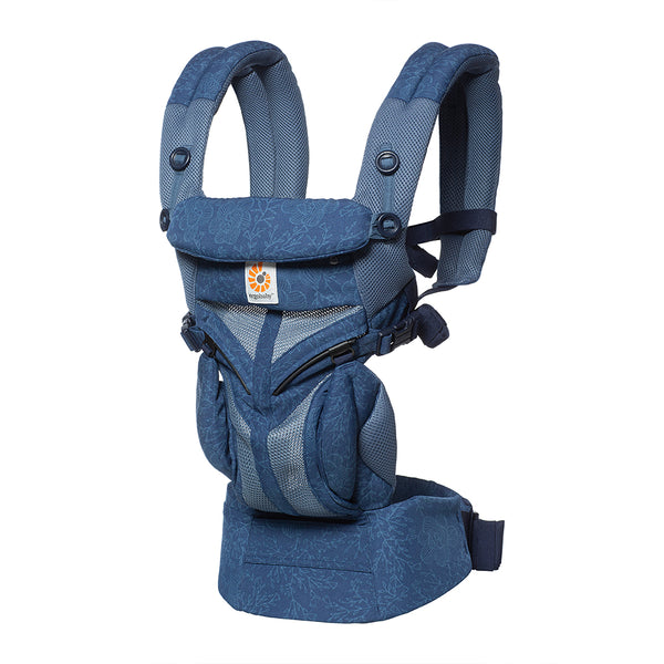 Omni 360 Baby Carrier: Cool Air Mesh-Blue Blooms