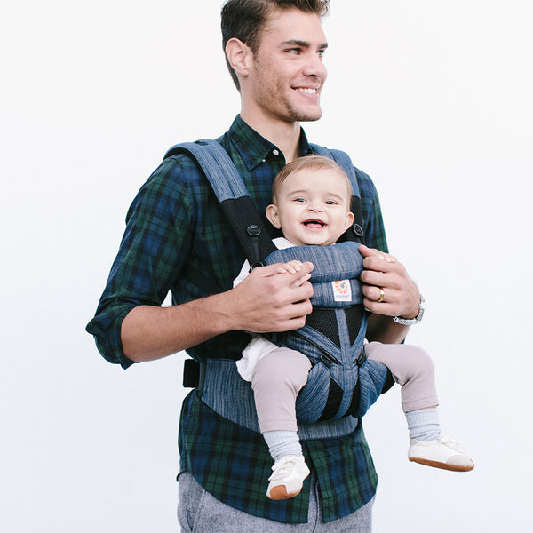 Omni 360 Baby Carrier: Cool Air Mesh-Indigo