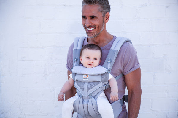 Omni 360 Baby Carrier: Cool Air Mesh -  Grey Pink Dots