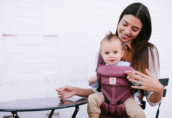 Omni 360 Baby Carrier: Cool Air Mesh - Plum