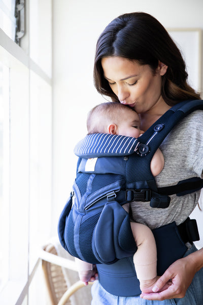 Omni 360 Baby Carrier: Cool Air Mesh-Pink Stripes