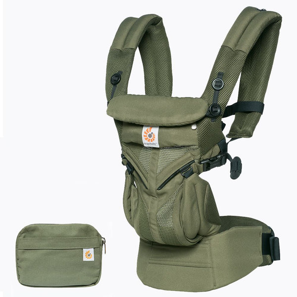 Omni 360 Baby Carrier: Cool Air Mesh-Khaki Green