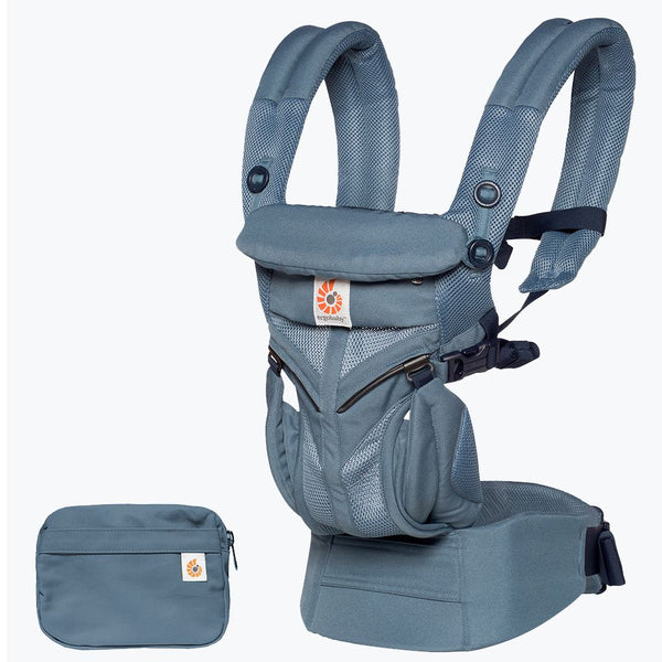 Omni 360 Baby Carrier: Cool Air Mesh-Oxford Blue