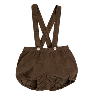 Hastings bloomer romper - nut velvet