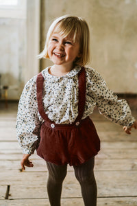 Hastings bloomer romper - clay velvet