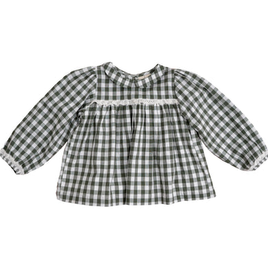Emma blouse - green gingham