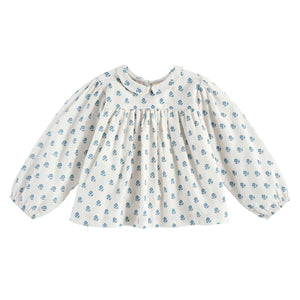 【ラスト1点】Emma blouse - upsy daisy floral in off white