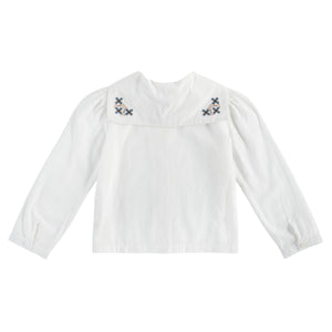 Sidonie sailor blouse - cross stitch embroidery
