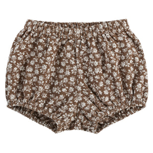 Poppy Bloomers - floral corduroy in nut