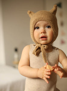 Kitty bonnet light/ Camel