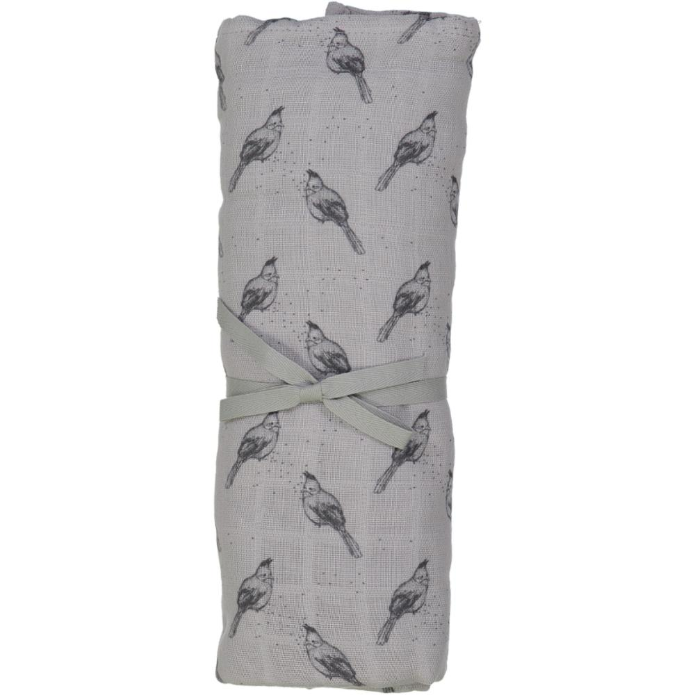 XL SWADDLE DOUDOU  LE GRAND 120x120cm /BULBUL GREY