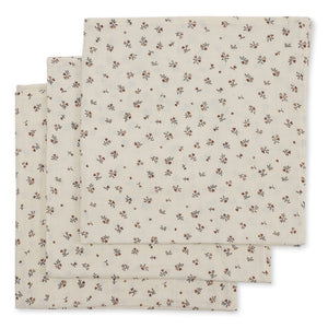 3 PACK MUSLIN CLOTH /PETIT AMOUR ROSE
