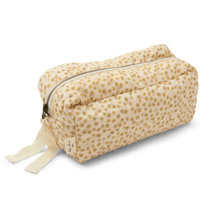 QUILTED TOILETRY BAG /BUTTERCUP YELLOW