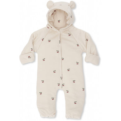 NEW BORN ONESIE WITH HOOD /CHERRY
