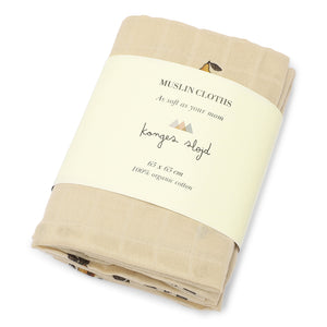 3 PACK MUSLIN CLOTH /POIRE
