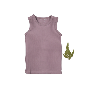The Ribbed Tank /Violet