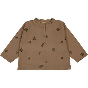 OLYMPE SHIRT/ QUINCE PRINT/CAMEL